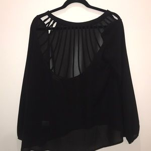 sheer reversible top